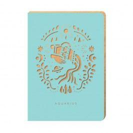 Linkovaný zápisník Portico Designs Vodnář, 124stránek