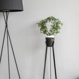 Bíločerný samozavlažovací květináč Plastia Calimera A1, ø 17 cm