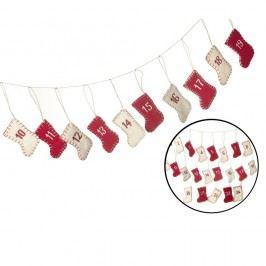 Adventní kalendář Parlane Stocking Vánoční dekorace