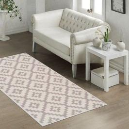 Odolný bavlněný koberec Vitaus Art Bej, 80x150cm