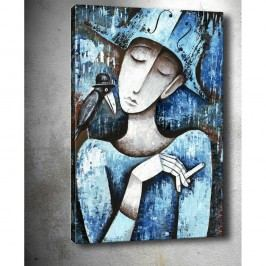 Obraz Tablo Center Girl With Cigarette, 40 x 60 cm