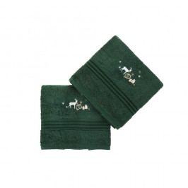 Sada 2 zelených ručníků Corap, 50x90cm