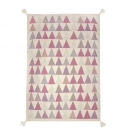 Koberec s růžovými detaily Art For Kids Triangles, 110x160cm