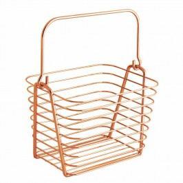 Oranžový kovový závěsný košík InterDesign, 21,5x19cm