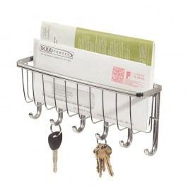 Nástěnný věšák na klíče s přihrádkou na dopisy iDesign York Lyra, délka 27,5cm