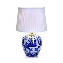 Modro-bílá stolní lampa Markslöjd Goteborg, výška 48 cm
