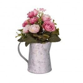 Šedobílá váza s květinami AnticLine