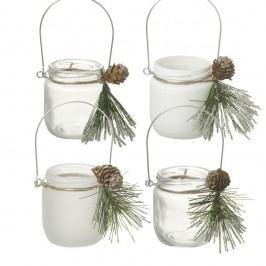 Sada 4 svícnů Parlane Pine Svícny adekorace