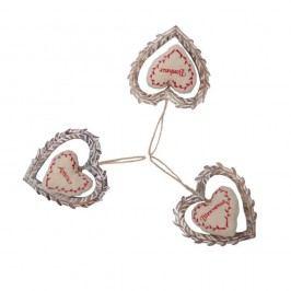 Sa 3 závěsných srdíček Antic Line Amour Nature Dekorace snápadem