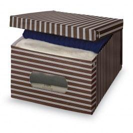 Hnědošedý úložný box Domopak Living, 24x50cm