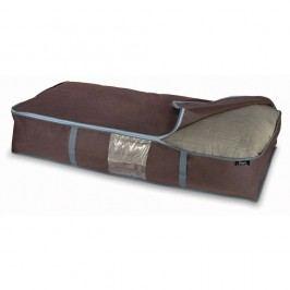 Hnědý úložný box na peřiny Domopak Living, 18x45cm Úložné krabice akošíky