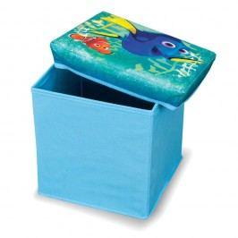 Modrá taburetka na hračky Domopak Finding Dory, 30x30cm