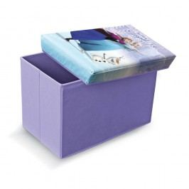 Fialová úložná taburetka na hračky Domopak Frozen, délka49cm