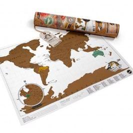 Stírací mapa světa Luckies of London Mini