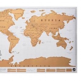Seškrabávací mapa světa Luckies of London