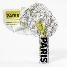 Zmačkaná cestovní mapa Palomar Paříž