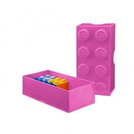 Růžový svačinový box LEGO®