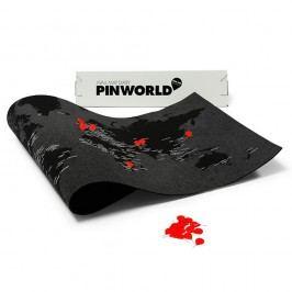 Černá nástěnná mapa světa Palomar Pin World, 126 x68cm