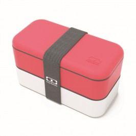 Červeno-bílý obědový box Monbento Original