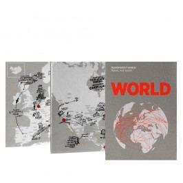 Mapa světa na popisky Palomar Transparent World
