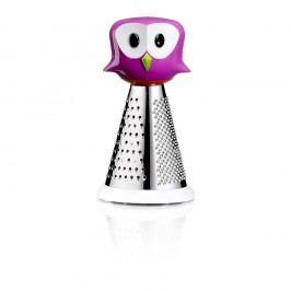 Malé fialové struhadlo se sovou e-my