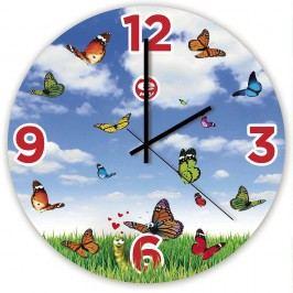 Dětské skleněné nástěnné hodiny e-my Lovefly