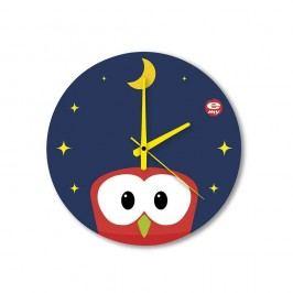 Skleněné dětské nástěnné hodiny e-my Pisolo