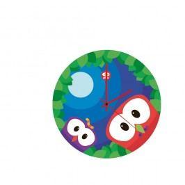 Skleněné dětské nástěnné hodiny e-my Up