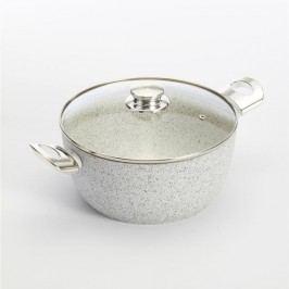 Hrnec s pokličkou a úchyty ve stříbrné barvě Bisetti Stonewhite Mirko, ø 24 cm