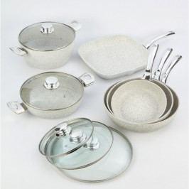 10dílný set nádobí Bisetti Stonewhite
