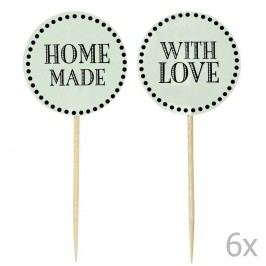 Sada 12 zelených zapichovacích ozdob na dort Miss Étoile Home Made With Love