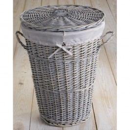 Šedý proutěný koš na prádlo Compactor Vintage