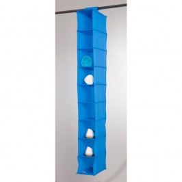 Modrý závěsný organizér s 9 přihrádkami Compactor Rack