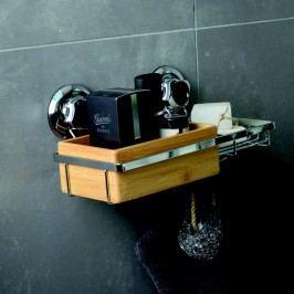 Bambusový nástěnný košík s miskou na mýdlo Compactor Spa Vybavení koupelny
