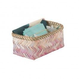 Bambusový úložný koš Compactor Noumea, výška 10 cm Úložné krabice akošíky