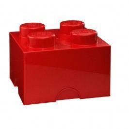 Červený úložný box čtverec LEGO® Úložné krabice akošíky