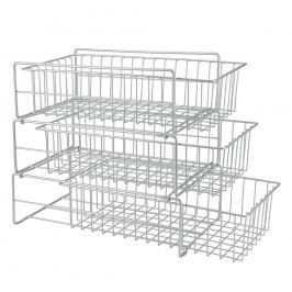 Přídavné trojpatrové poličky do kuchyňské skřínky Metaltex Limpio