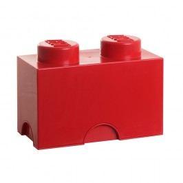 Červený úložný dvojbox LEGO® Úložné krabice akošíky