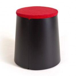 Černo-červená stolička MEME Design Bobino