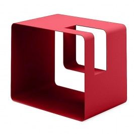 Červený stojan na časopisy MEME Design Libris