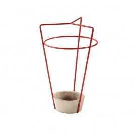 Červený stojan na deštníky s betonovou základnou MEME Design Ambrogio