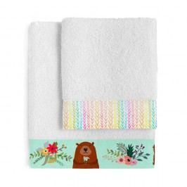 Set osušky a ručníkuLittle W Daisy Flower