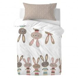 Povlečení Little W Maxicrib Little Rabbits, 115 x 145 cm