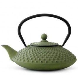 Zelená litinová konvice se sítkem na sypaný čaj Bredemeijer Xilin, 1,25l