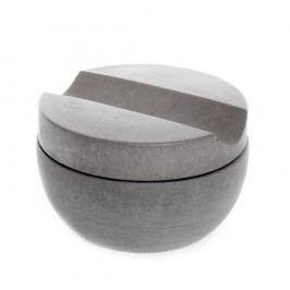 Šedá betonová miska na holení s mýdlem s vůní santalu Iris Hantverk