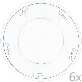 Sada 6 porcelánových talířů Libellules, 32 cm