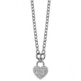 Náhrdelník stříbrné barvy Guess Heart