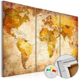 Vícedílná nástěnka s mapou světa Artgeist Antique Travel, 60x40cm