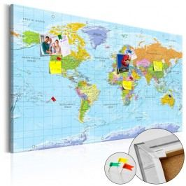 Nástěnka s mapou světa Artgeist Orbis Terrarum, 120x80cm