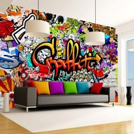 Velkoformátová tapeta Bimago Colourful Graffiti, 350x245cm